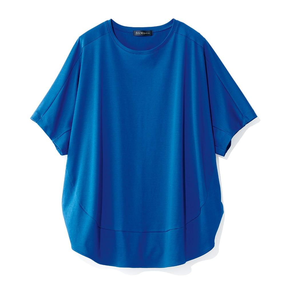 コットンスムース コクーン Tシャツ (ア)ロイヤルブルー