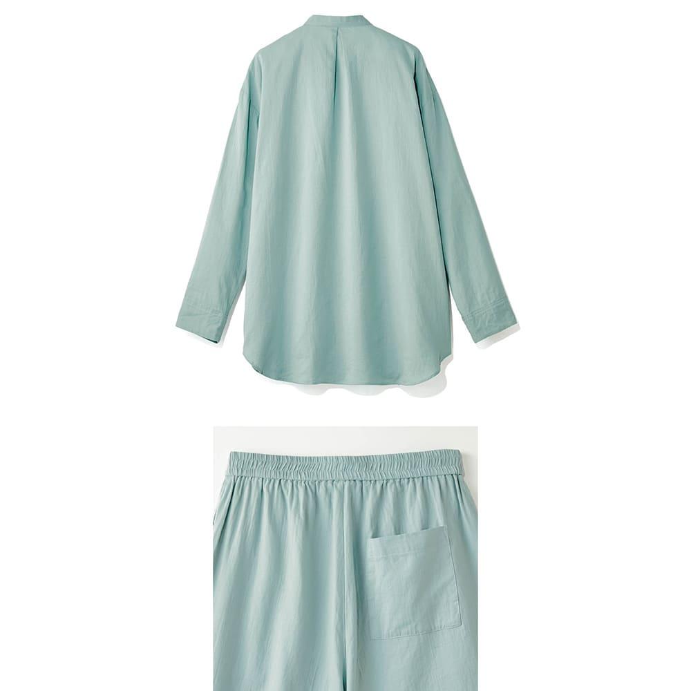 コットンダブルガーゼ デザインパジャマ Back Style