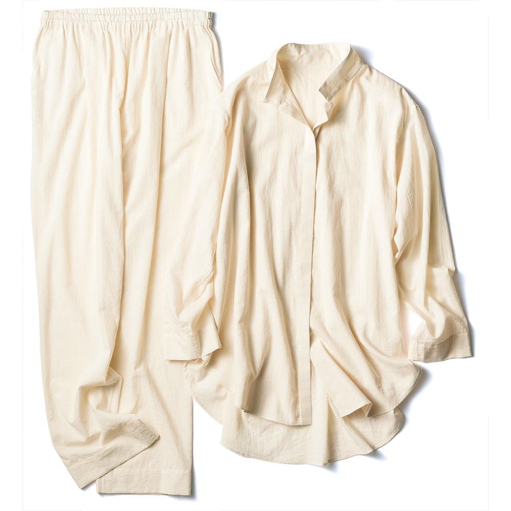 オーガニックコットン シャツパジャマ