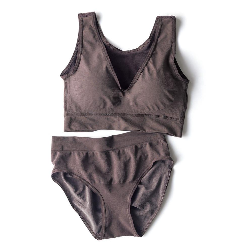 肌側シルク成型編みショーツ 下:肌側シルク成型編みショーツ