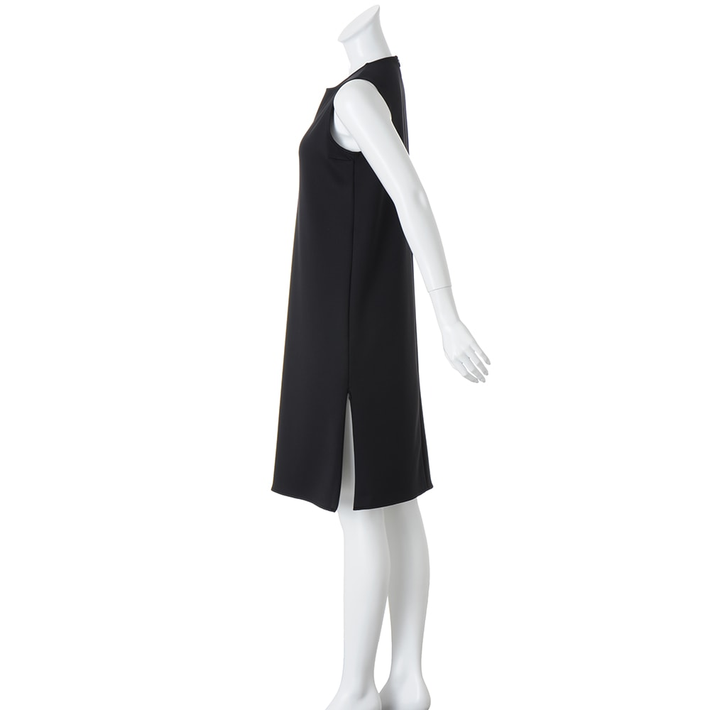 高密度スムースシリーズ ファスナースリットワンピース 両脇裾スリット仕様(コンシールファスナー付き)