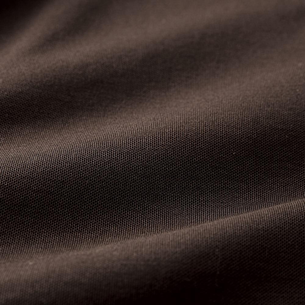 シルケット鹿の子 テントラインポロワンピース (イ)ダークブラウン