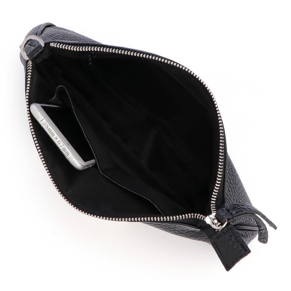 Gianni Pizzini/ジャンニピジーニ ポーチ付きショルダー 138mm×67mmスマートフォン内ポケット収納可