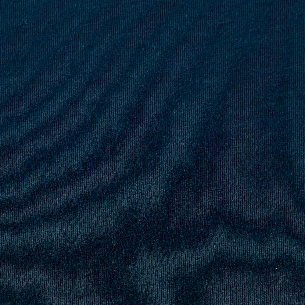 洗えるハイゲージコットンベア天竺シリーズ ボートネック Tシャツ (エ)ネイビー 生地アップ