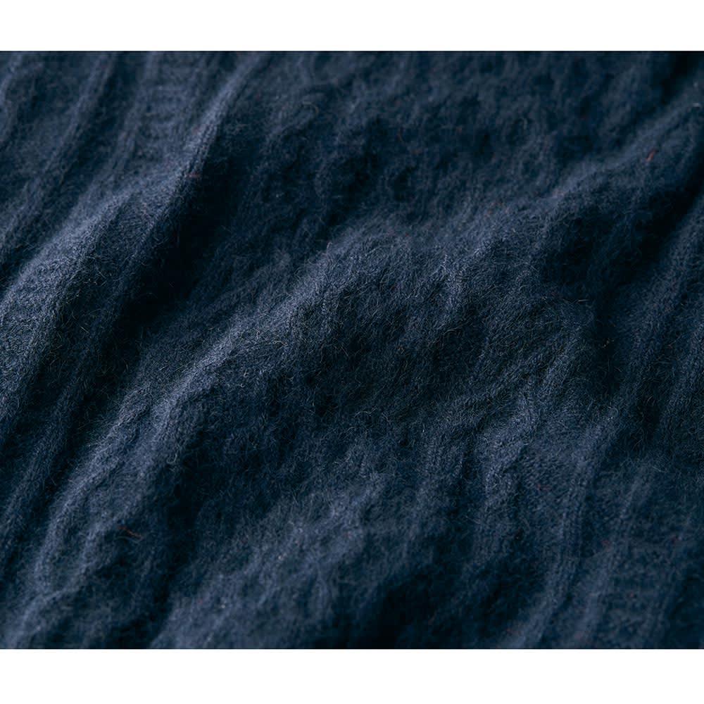 ホールガーメント(R)ヘアリーニットケーブル柄 ドルマンスリーブワンピース