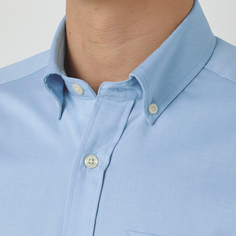 SCENE(R)/シーン 7DAYSジャパンメイドシャツシリーズ ツイル起毛ネイビー ネクタイをはずしたときやボタンを開けたときもサマになる、小さめな襟のボタンダウン。