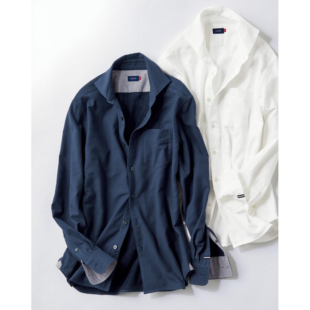 SCENE(R) 今治タオルシャツ 左から(エ)ネイビー (イ)ホワイト