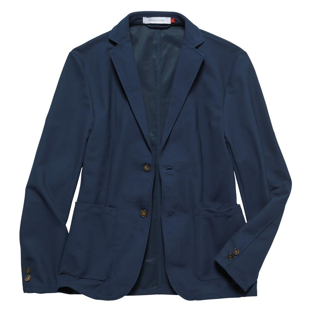 「FIELDSENSOR(R)」 鹿の子編みニットジャケット Front 肩パッドなどを省き、カーディガン感覚で羽織れる仕様に