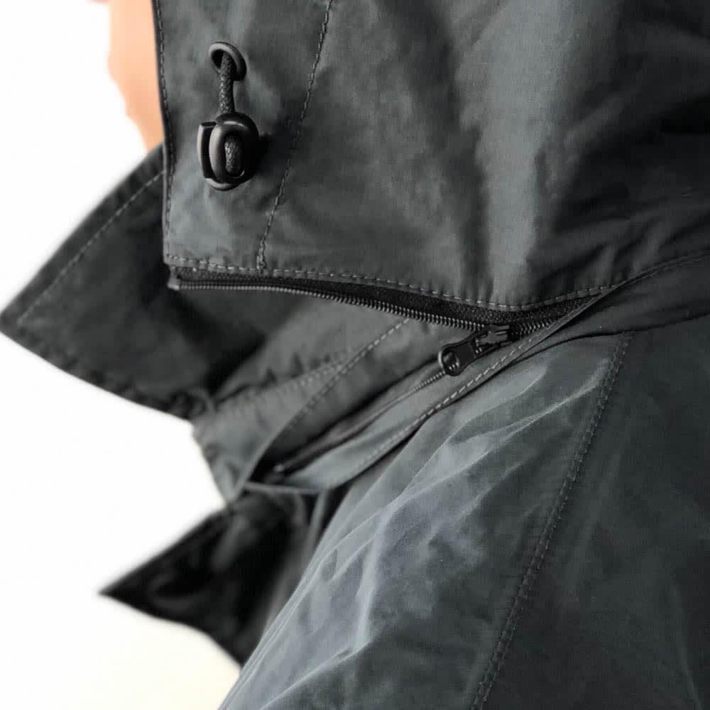 TANTA/タンタ 撥水ステンカラーコート ファスナーで簡単にフードを取り外して、着こなしのアレンジができます。