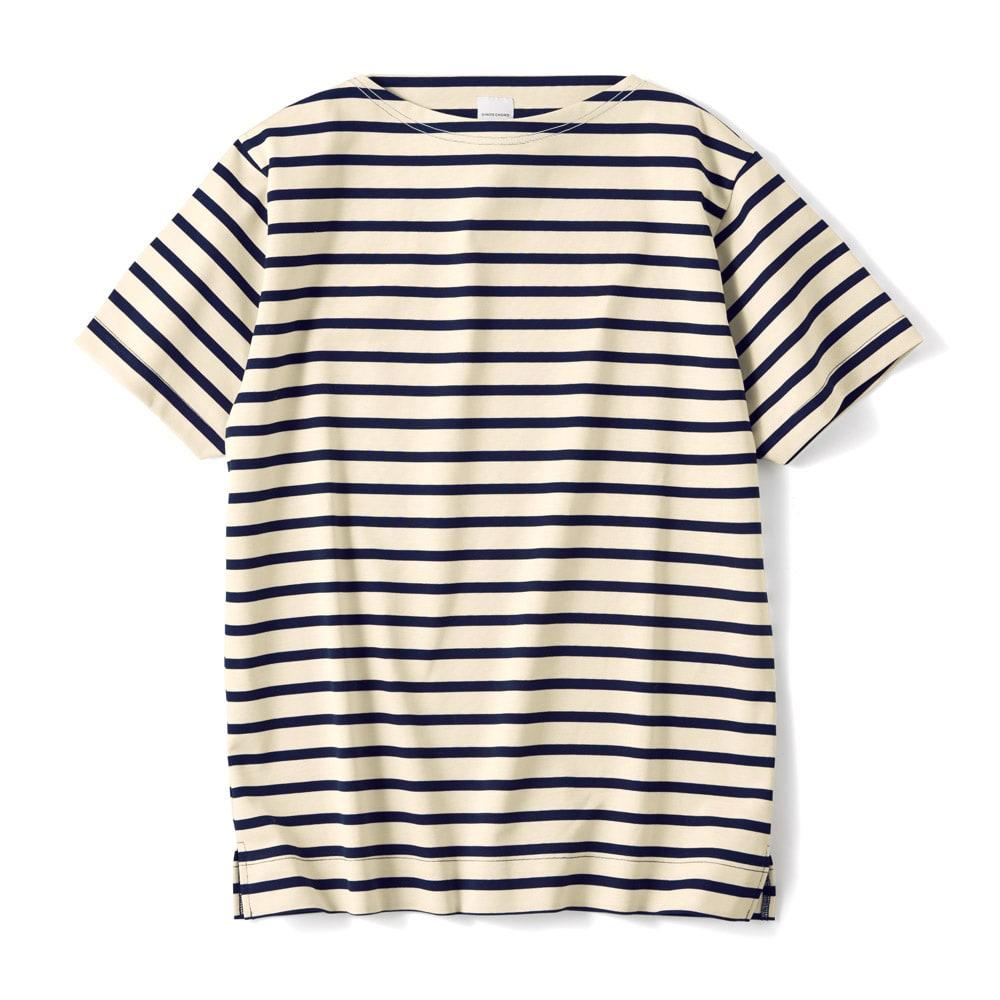 フランス「BUGIS」社 バスクシャツシリーズ ショートスリーブ (ア)ネイビーボーダー