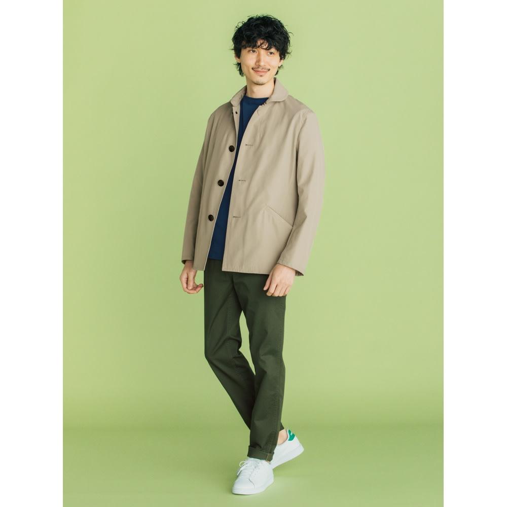 フランス「BUGIS」社 バスクシャツシリーズ ショートスリーブ (エ)ネイビー無地 コーディネート例