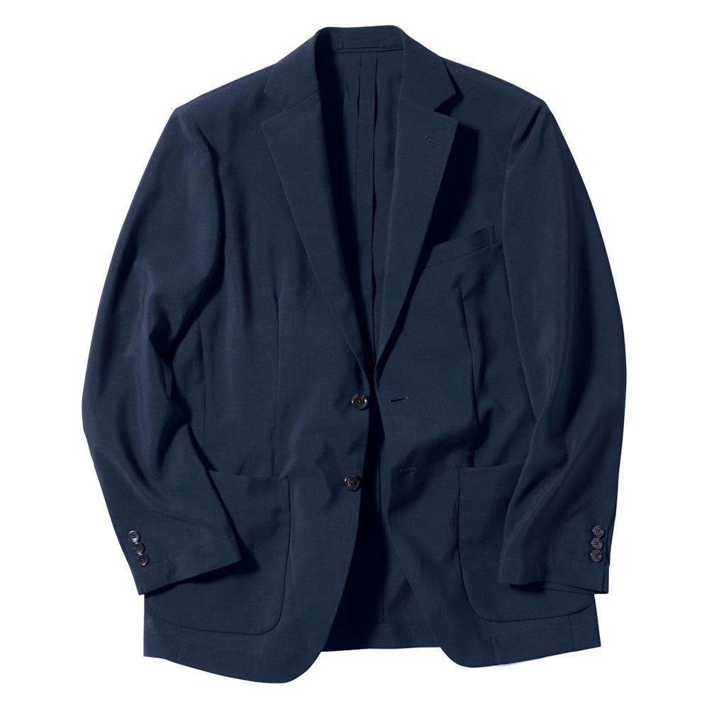 洗える軽量 セットアップシリーズ ジャケット Front (イ)ネイビー 業界最軽量に挑んだ、ミニマルなデザイン