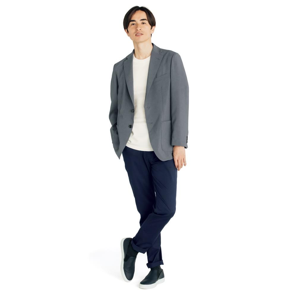 洗える軽量 セットアップシリーズ ジャケット (ア)グレー Tシャツの上にさっと羽織るだけでいつものコーディネートが見違えます