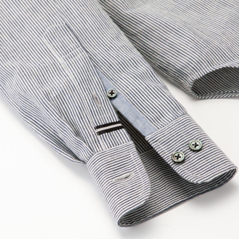 SCENE(R) 7DAYS ジャパンメイドシャツシリーズ 綿麻ワッシャー ディテールまで配慮 長く愛用していただけるよう、細かい部分までこだわりを。