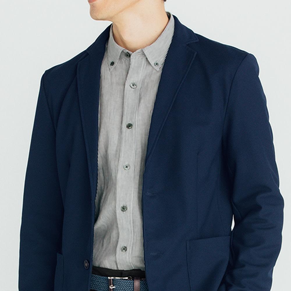 SCENE(R) 7DAYS ジャパンメイドシャツシリーズ リネン混マドラスチェック SCENE(R) 7DAYS ジャパンメイドシャツシリーズ 着用例
