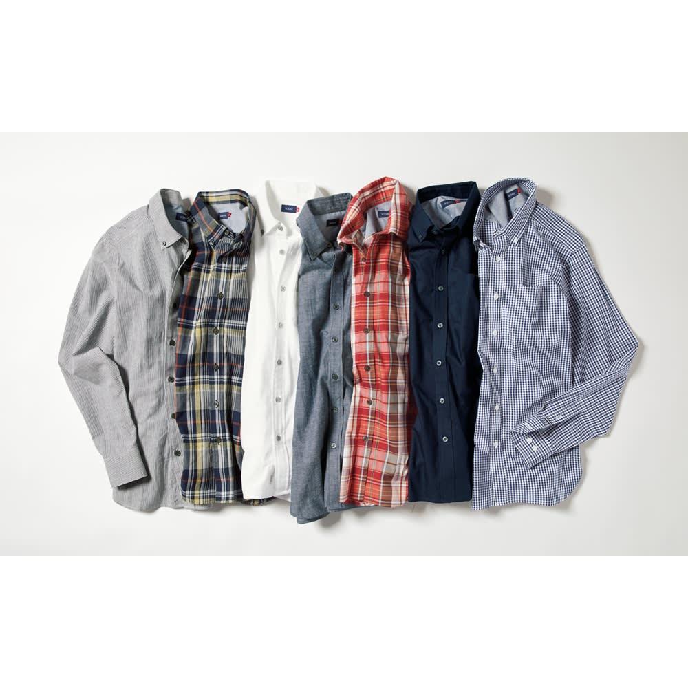 SCENE(R) 7DAYS ジャパンメイドシャツシリーズ 綿麻ストライプ SCENE(R) 7DAYS ジャパンメイドシャツシリーズ