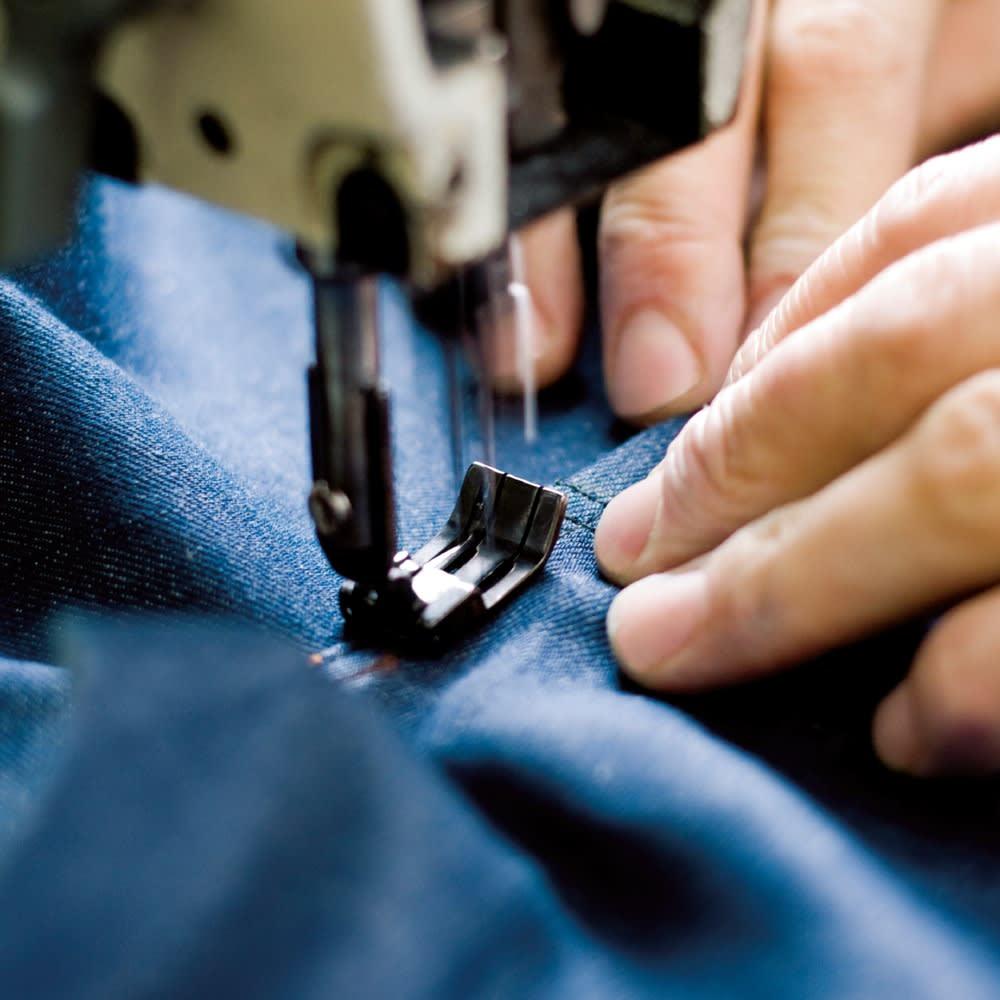 SCENE(R) 7DAYS ジャパンメイドシャツシリーズ 綿麻ストライプ ジャパンメイド 高い技術力と緻密な作業で世界的に信頼度の高い日本製。