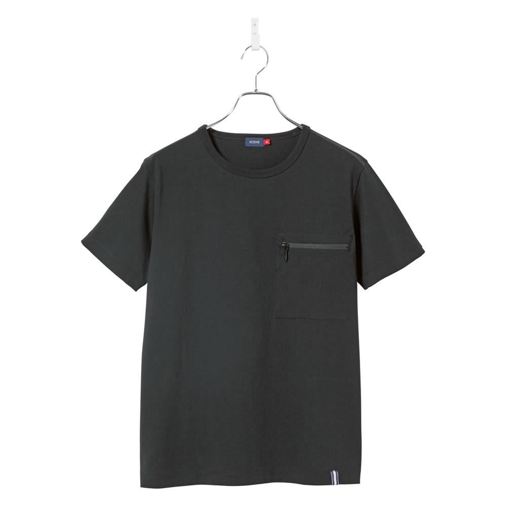 SCENE(R) スマホポケットTシャツ (イ)ブラック