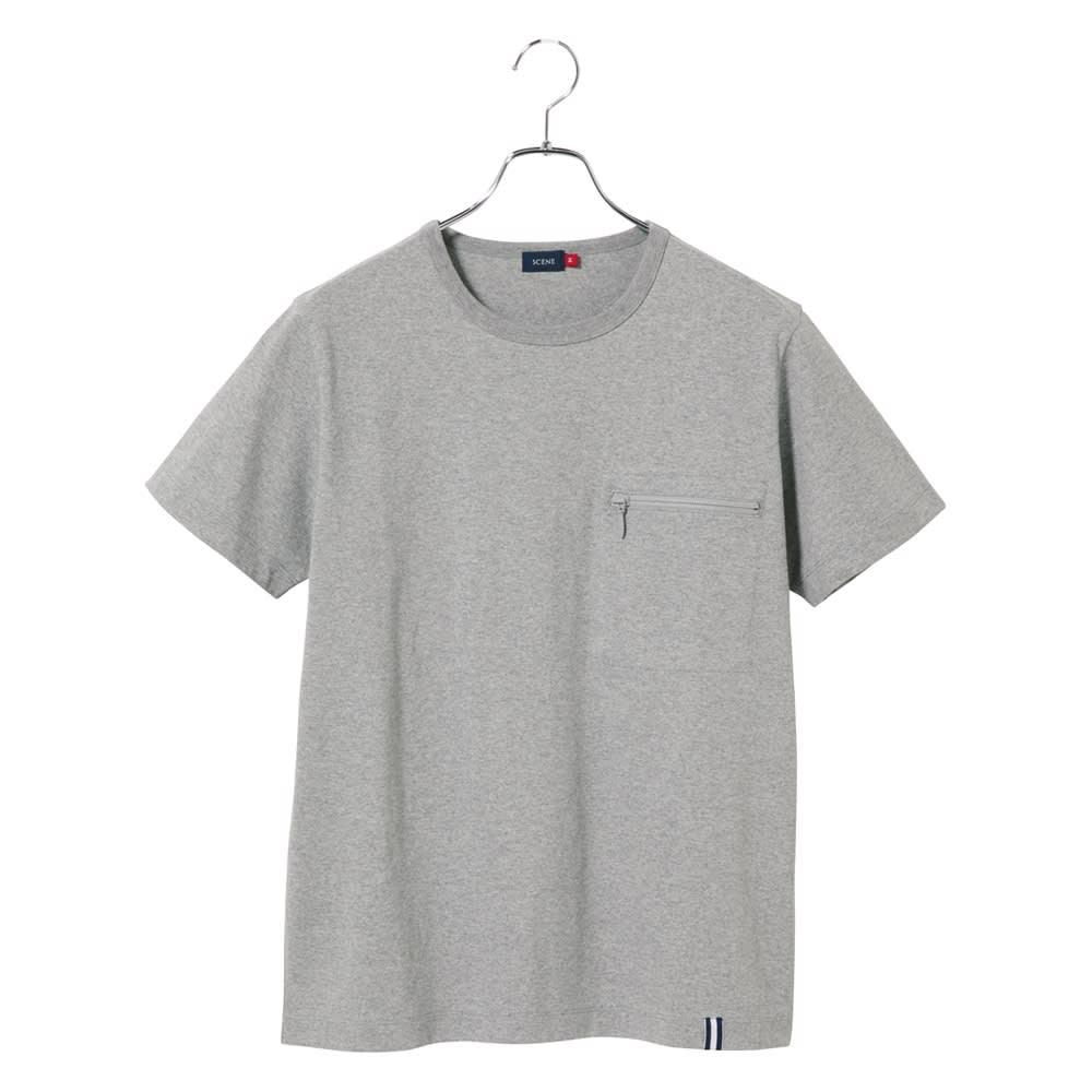 SCENE(R) スマホポケットTシャツ (ウ)グレー