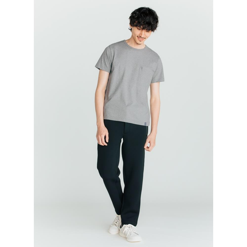 SCENE(R) スマホポケットTシャツ (ウ)グレー コーディネート例