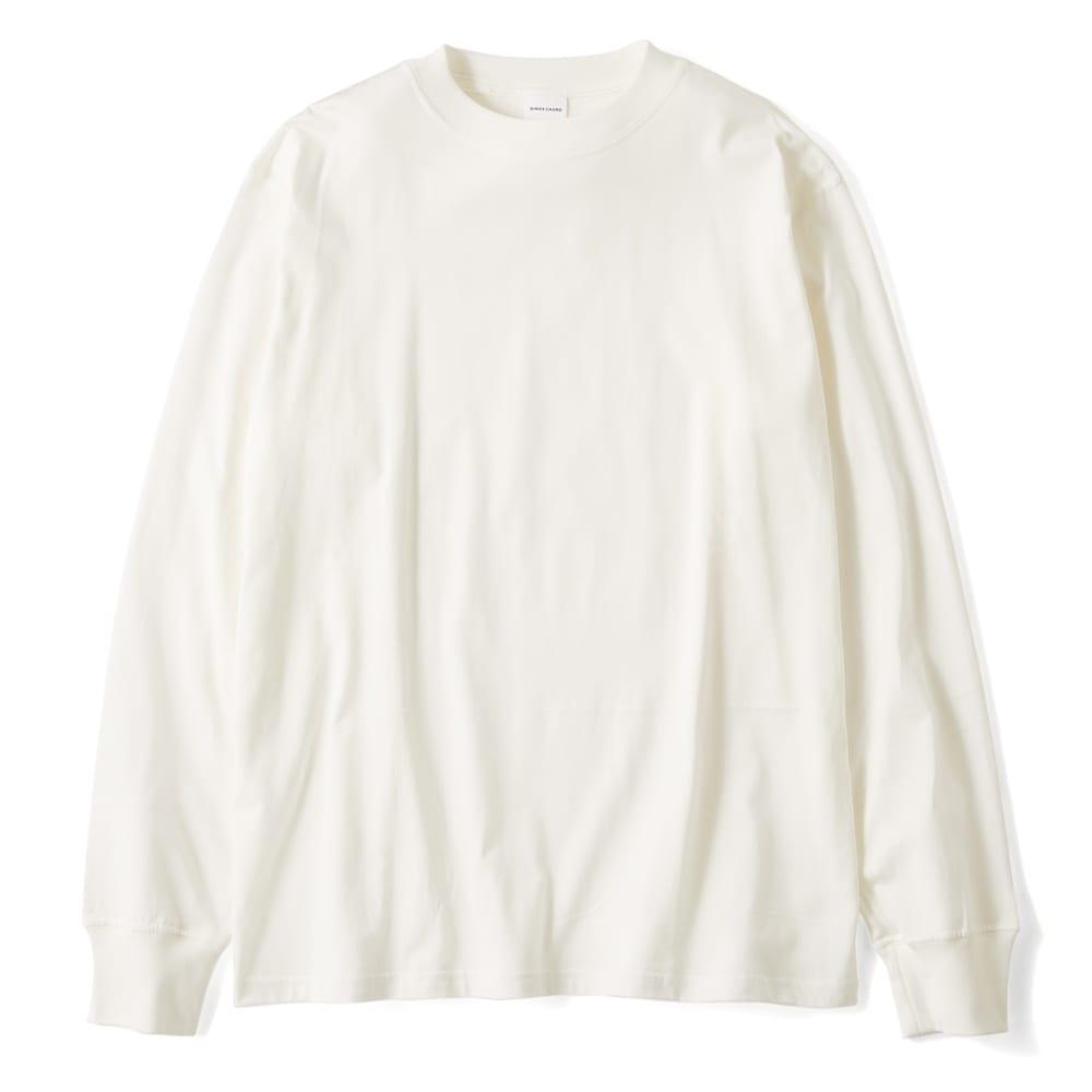 スッキリ袖リブドレスTシャツ (ウ)ホワイト