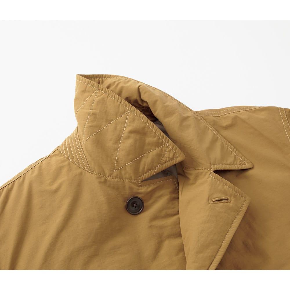 「airpack(R)」 ライトウェイト 中綿 ステンカラーコート