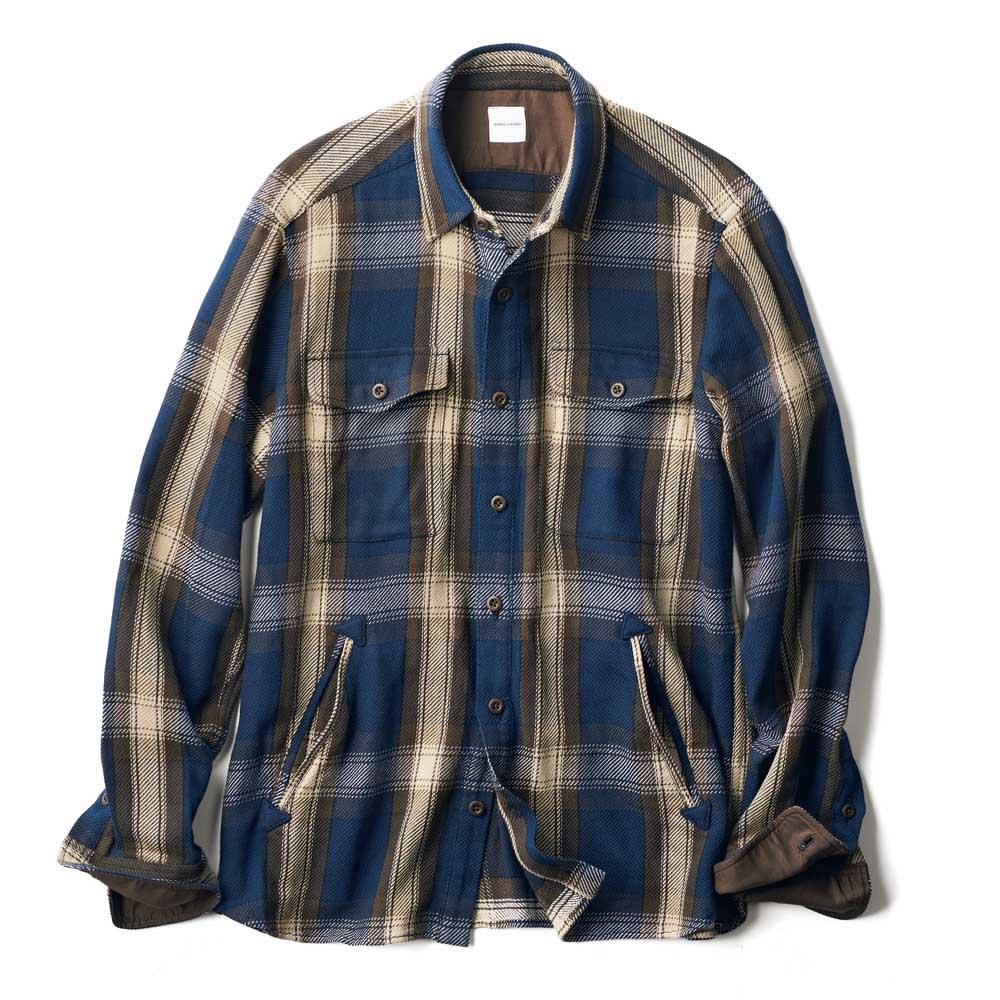 ヘビーネル シャツジャケット (イ)ブラウン系