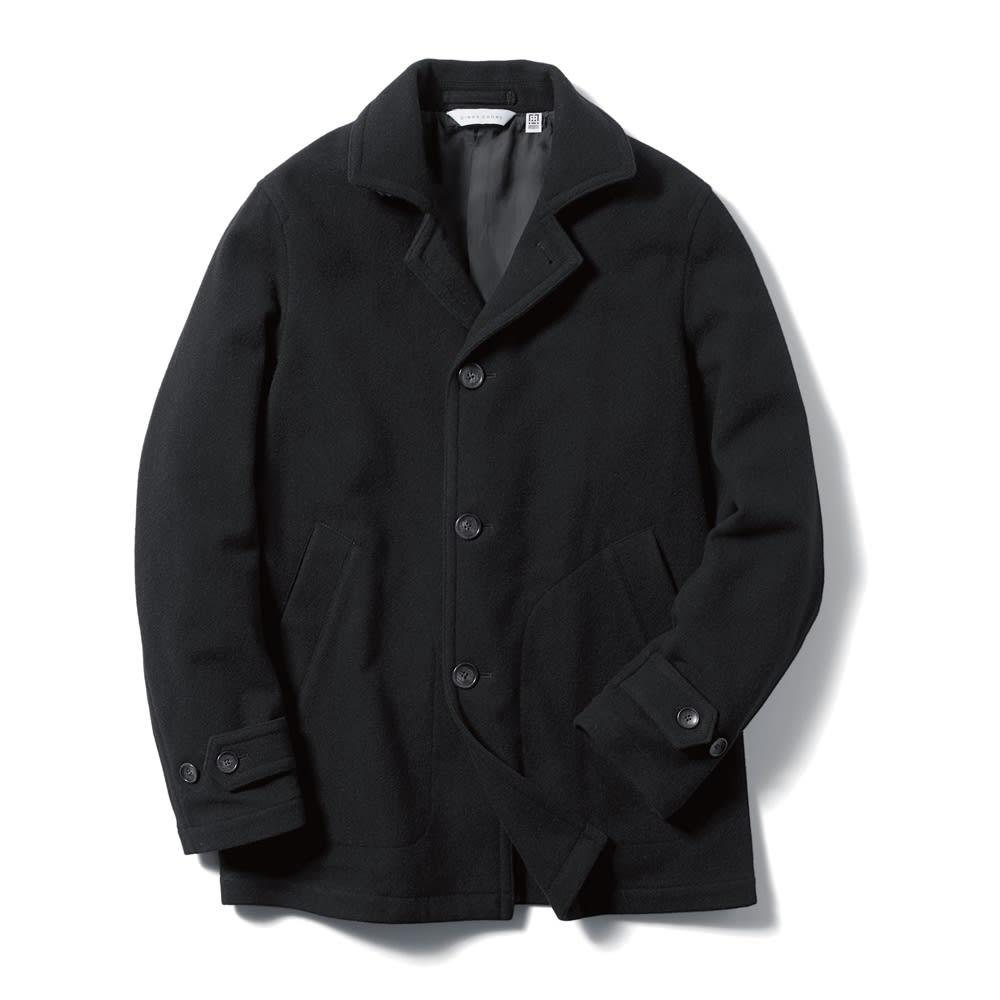 「RIVERSO」 ウールステンカラーコート (イ)ブラック