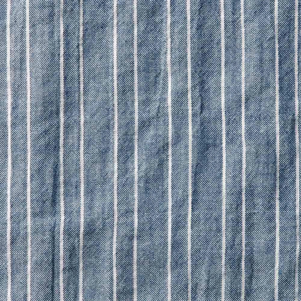 オーガニックコットン ショートスリーブシャツシリーズ ピンストライプネイビー Pinstripe Navy 柔らかな雰囲気のネイビー×白のストライプ。