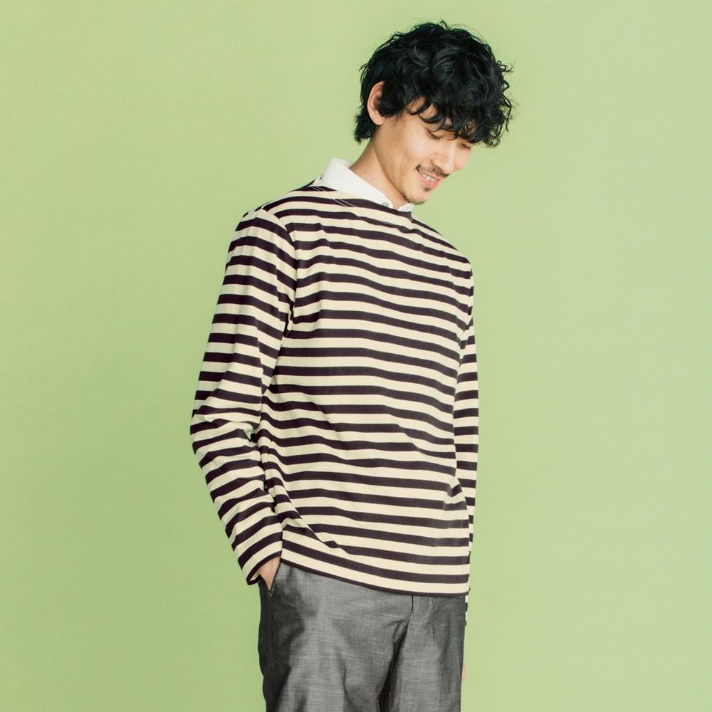 フランス「BUGIS」社 バスクシャツシリーズ ロングスリーブ 休日気分が盛り上がるレイヤードスタイルに挑戦