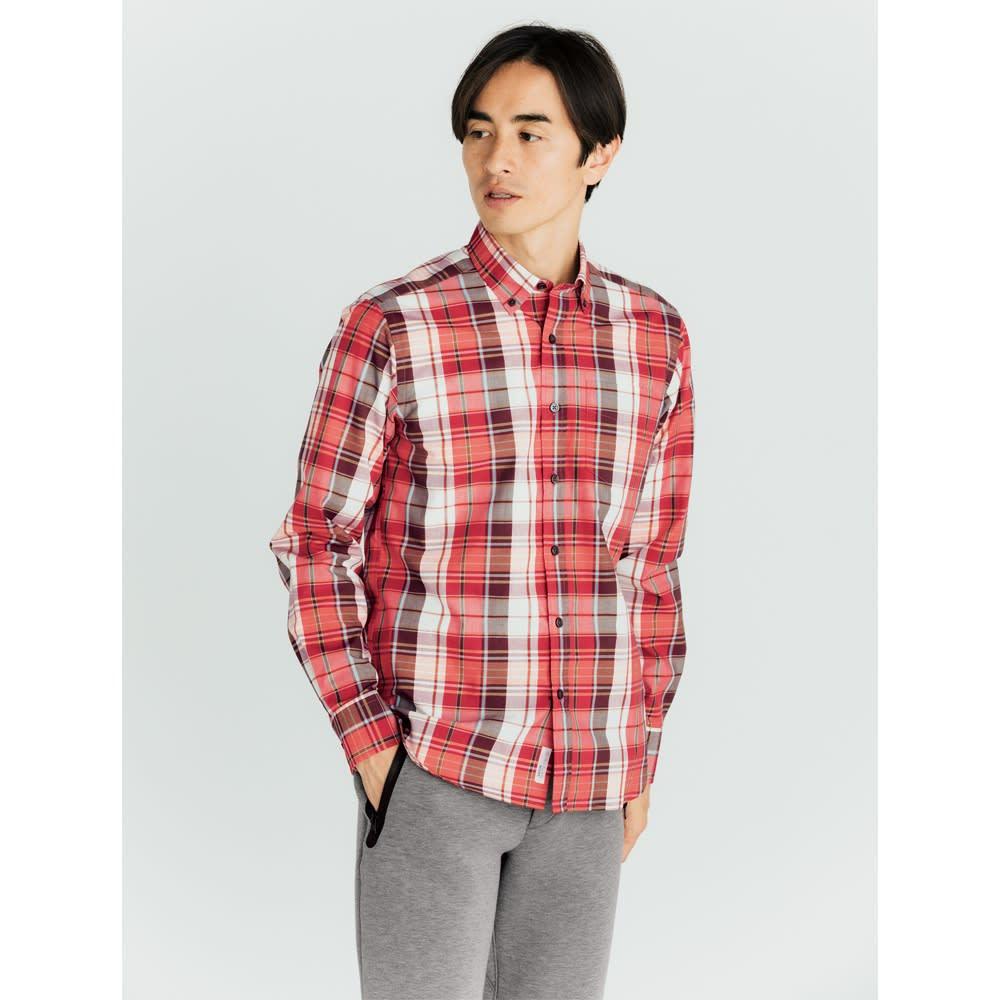 SCENE(R) 7DAYS ジャパンメイドシャツシリーズ ブロードマドラスチェック コーディネート例