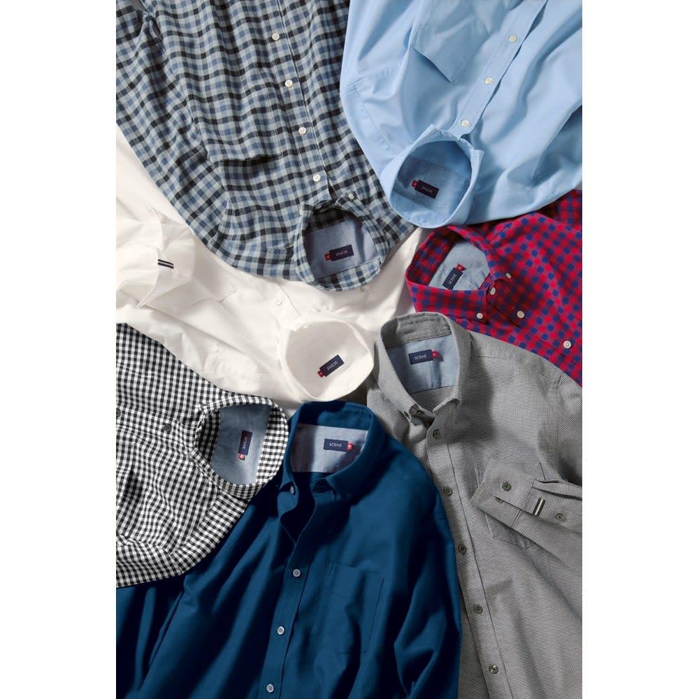 SCENE(R)/シーン 7DAYSジャパンメイドシャツシリーズ シャンブレーサックス SCENE(R)/シーン 7DAYSジャパンメイドシャツシリーズ