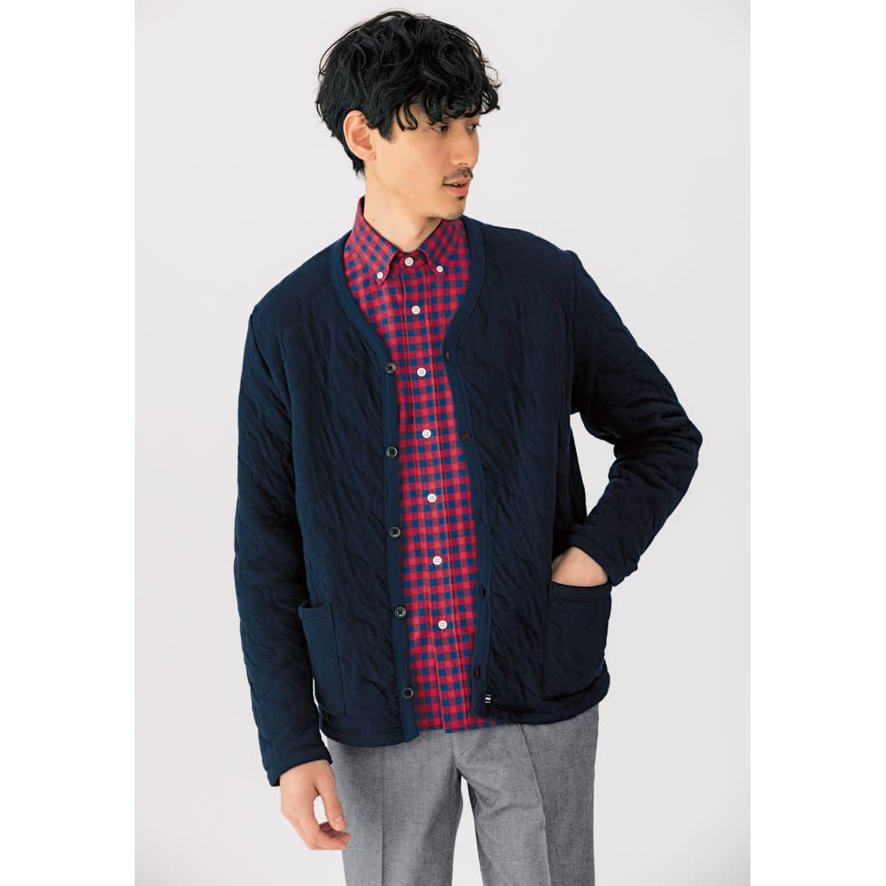 SCENE(R)/シーン 7DAYSジャパンメイドシャツシリーズ ツイルレッドチェック 着用例