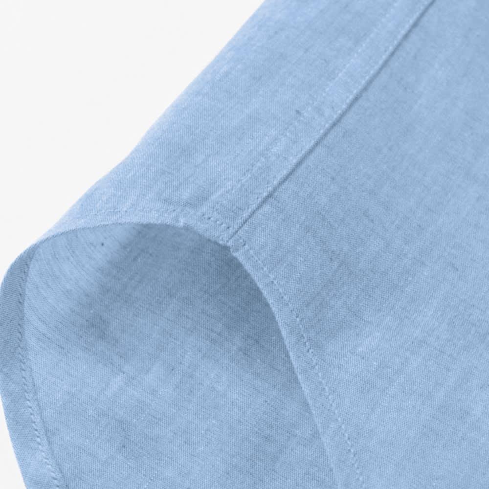 SCENE(R)/シーン 7DAYSジャパンメイドシャツシリーズ ツイルレッドチェック サイドは耐久性を上げる折伏せ縫いという始末、肌に縫い目があたらないという利点も。