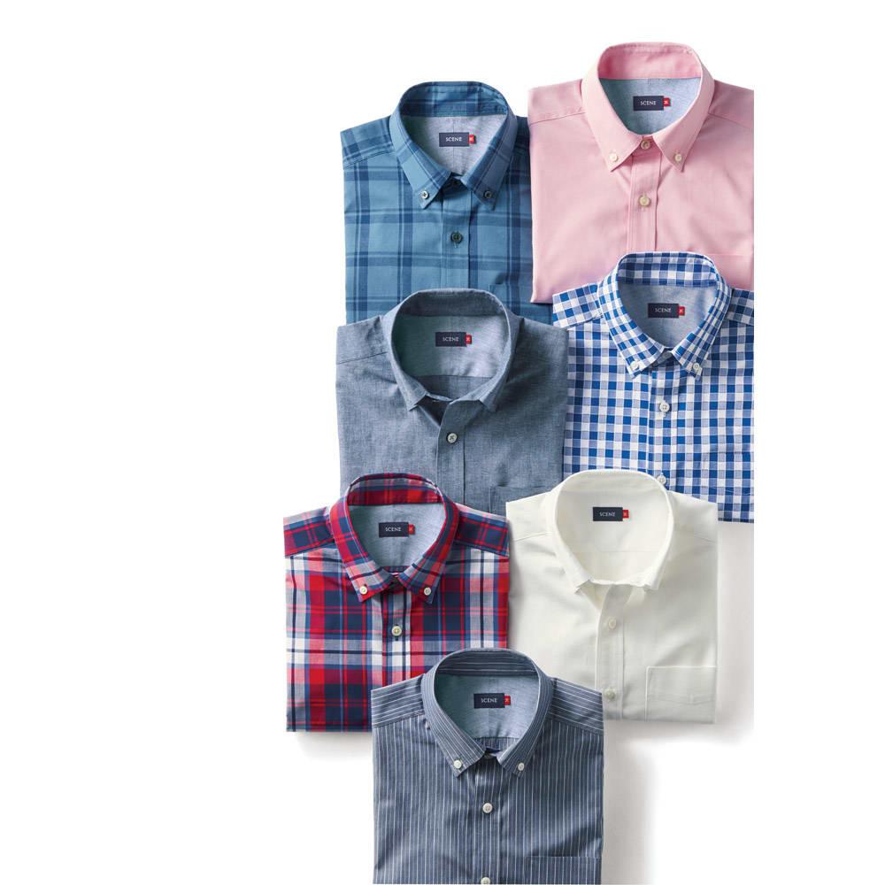 SCENE(R)/シーン 7DAYSジャパンメイドシャツシリーズ ビックチェック レギュラー SCENE(R)/シーン 7DAYSジャパンメイドシャツシリーズ