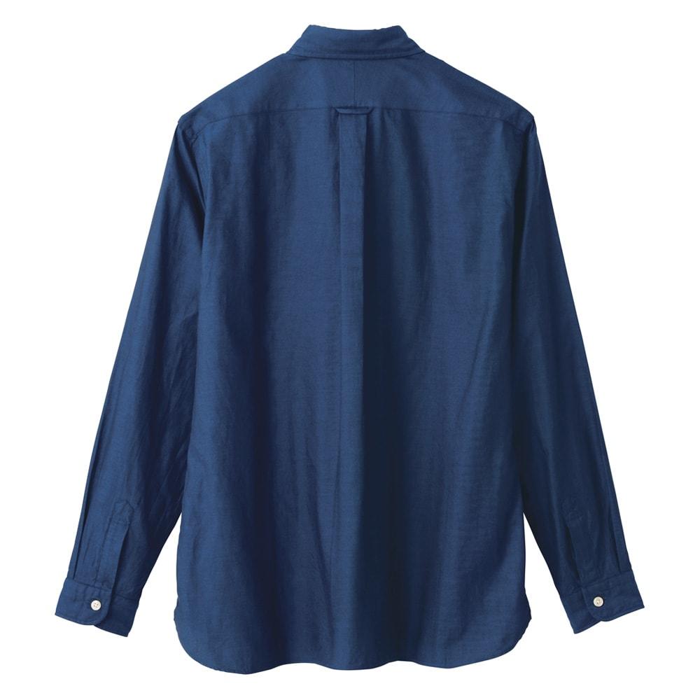「GIZA88」 ボタンダウンオックスシャツ(日本製) (ア)ネイビー