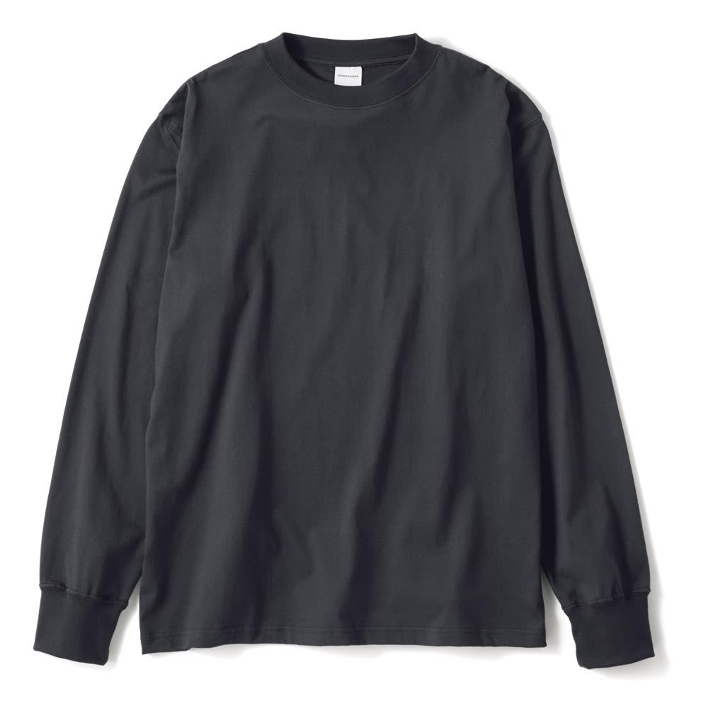 袖リブ腕まくりTシャツ (イ)ダークグレー