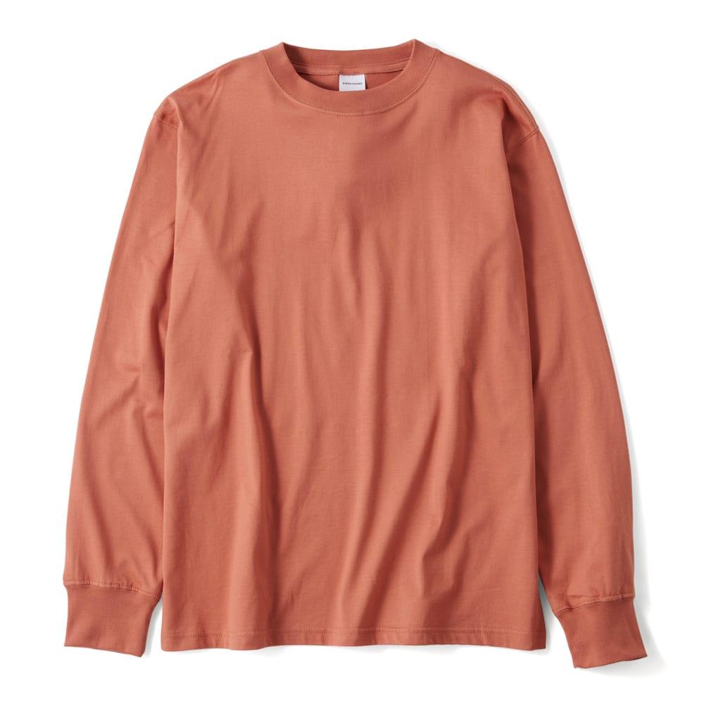 袖リブ腕まくりTシャツ (オ)グレイッシュピンク