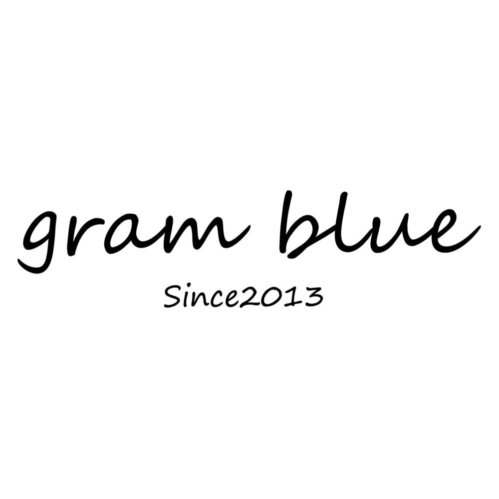 gram blue/グラムブルー ニットデニムパーカ