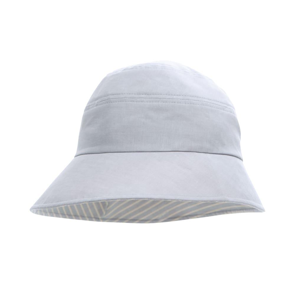 手しごと工房 ダンガリーUV帽子 (イ)グレー