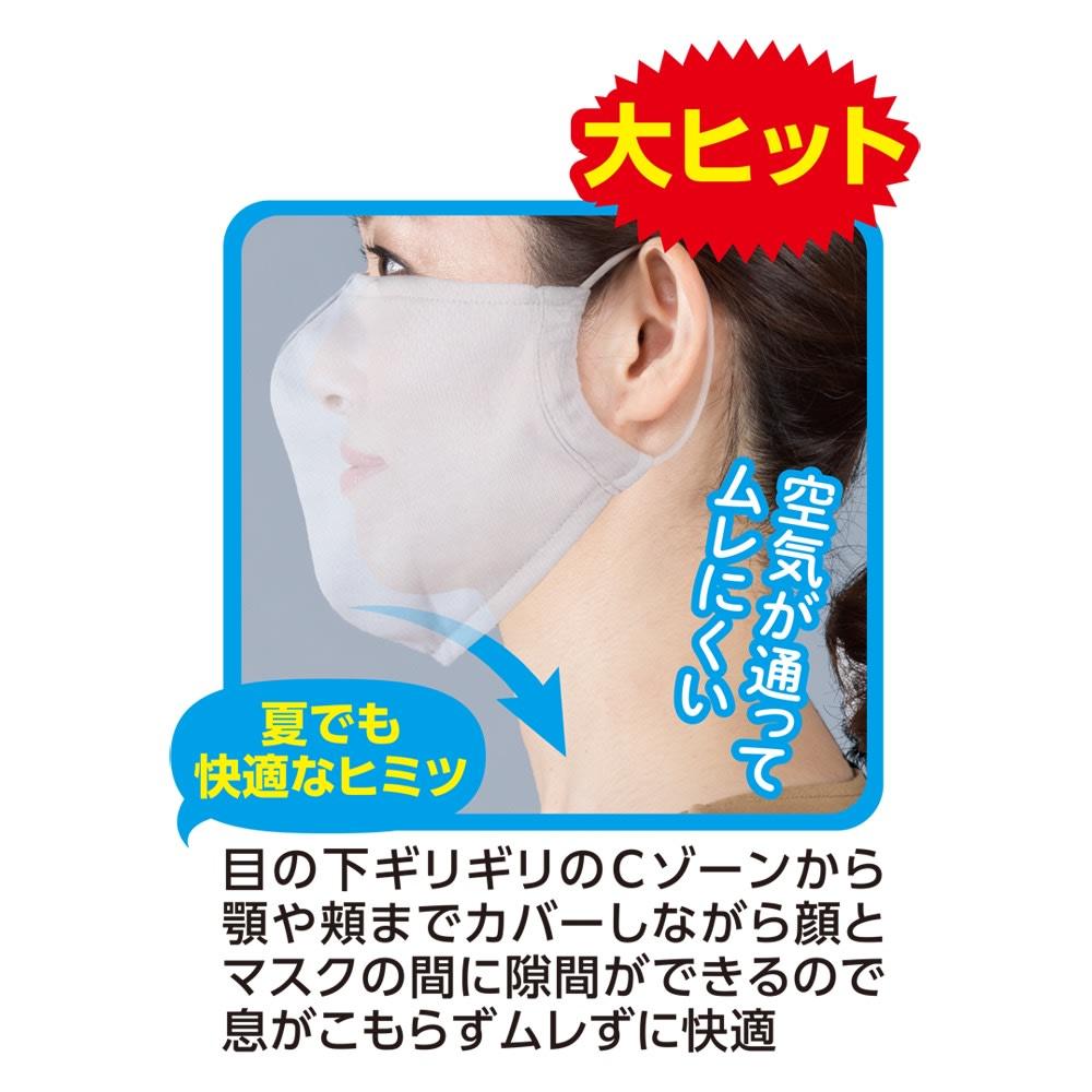 放熱 吸汗速乾 ムレにくいUVマスク 同色2枚組×2(4枚) (ア)ホワイト