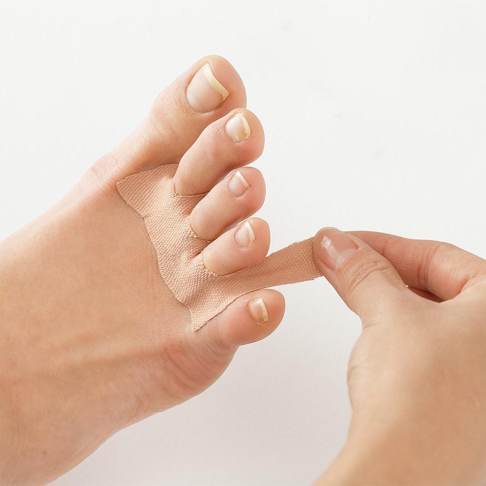 吸汗速乾 直貼りワイド汗取りシート 2個組 足指の間に