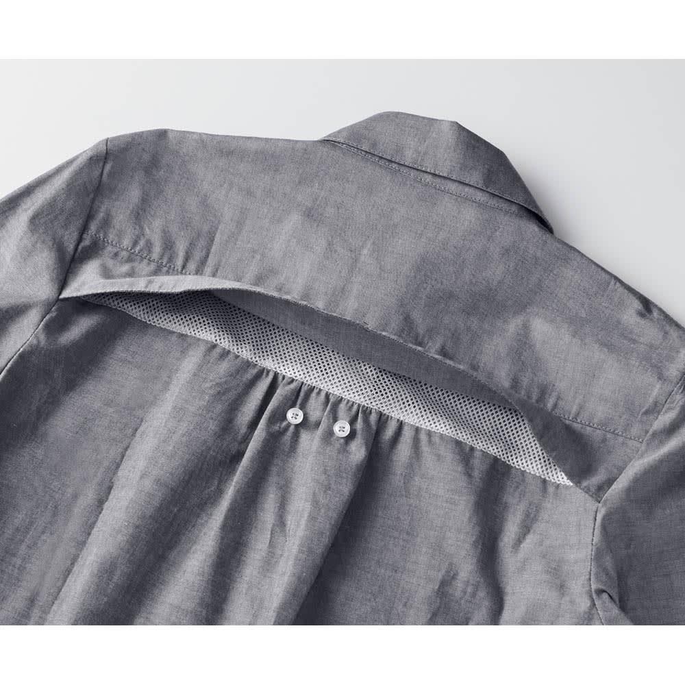 PLANET SURF/プラネットサーフ UV&DRYチュニックシャツ 隠しメッシュで背中汗対策 アウトドア用品などでお馴染みの機能で背中の汗蒸れも外に逃します。