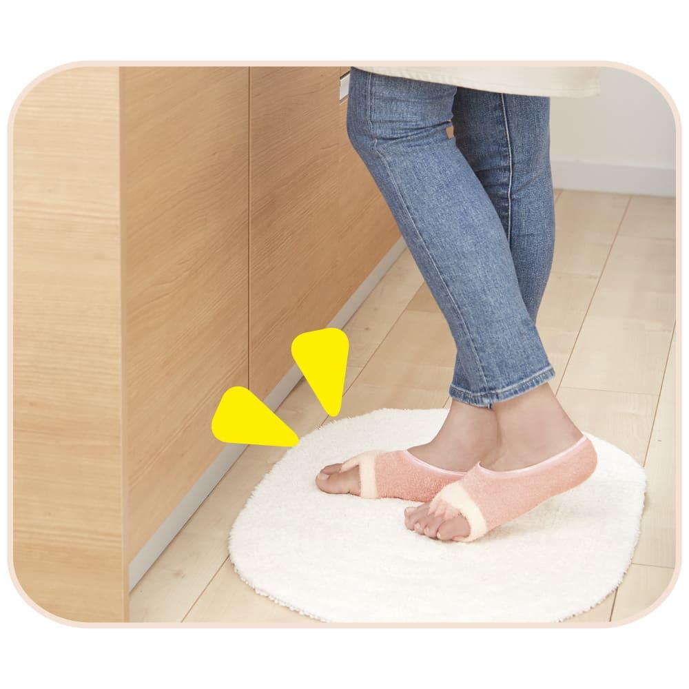 足指開くクッション付ソックス (2足組) リラックス 毎日、リラックスしながら足先運動!