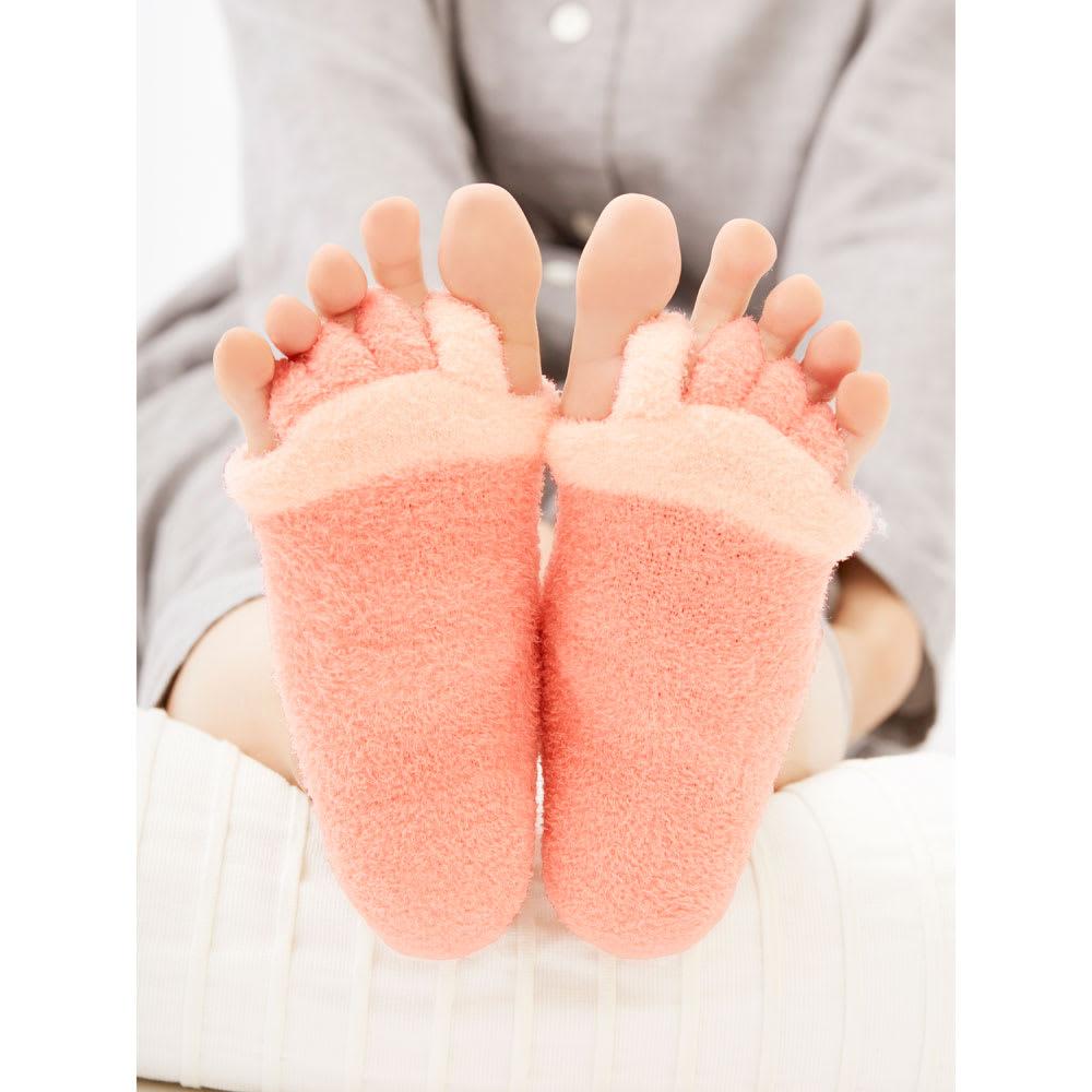 足指開くクッション付ソックス (2足組)