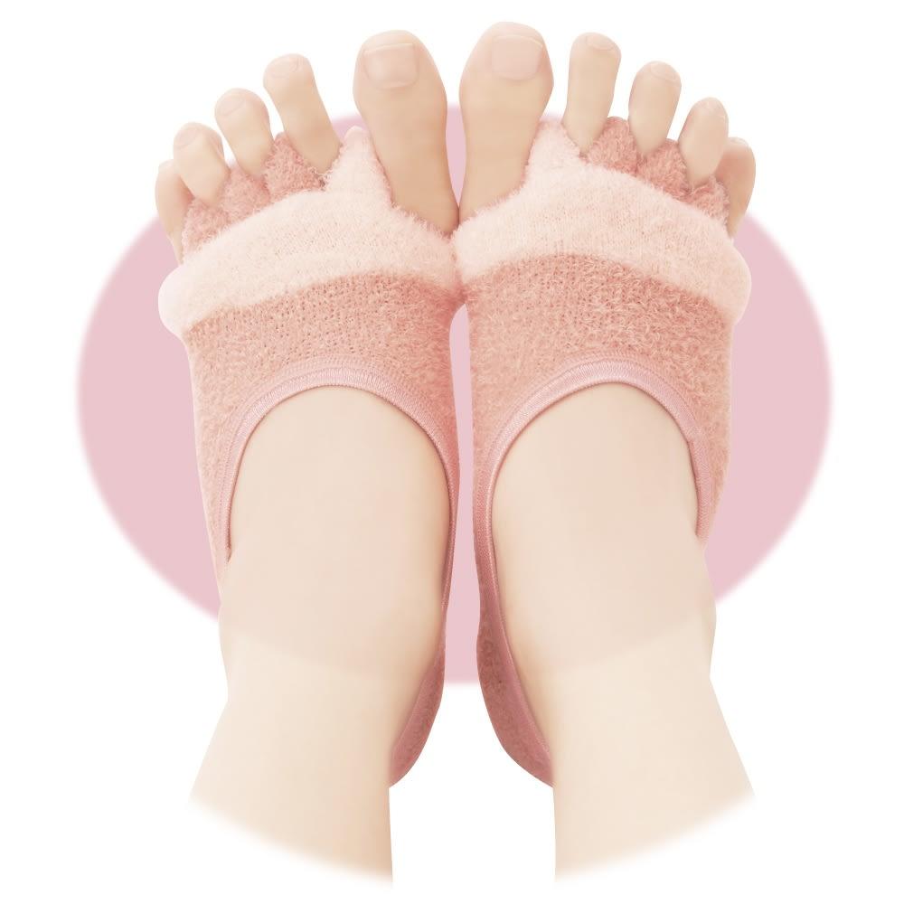 足指開くクッション付ソックス (2足組) グッと広げて気持ちイイ! 足先が広がるから気持ちイイ! ピンク