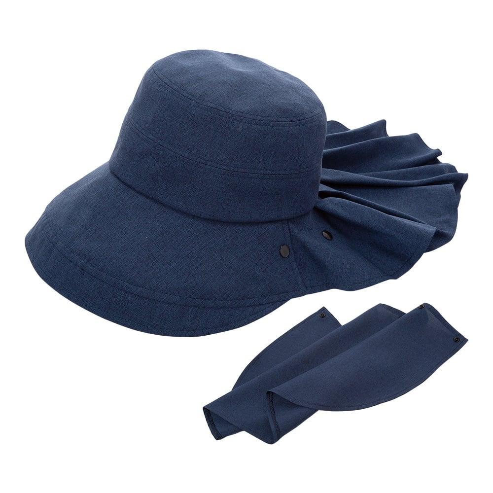 3WAY 遮熱クールUV帽子 (イ)ネイビー
