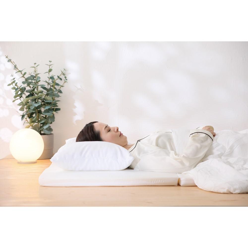 RAKUNA 整体枕ワイド バランスを失った状態 ※イメージ