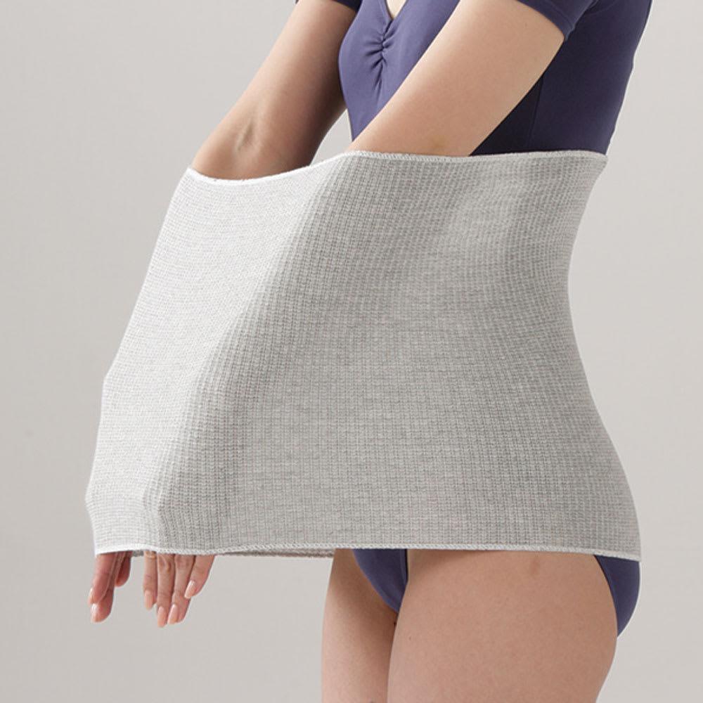 備長炭腹巻 2枚組 伸縮性の高いリブ編みを採用