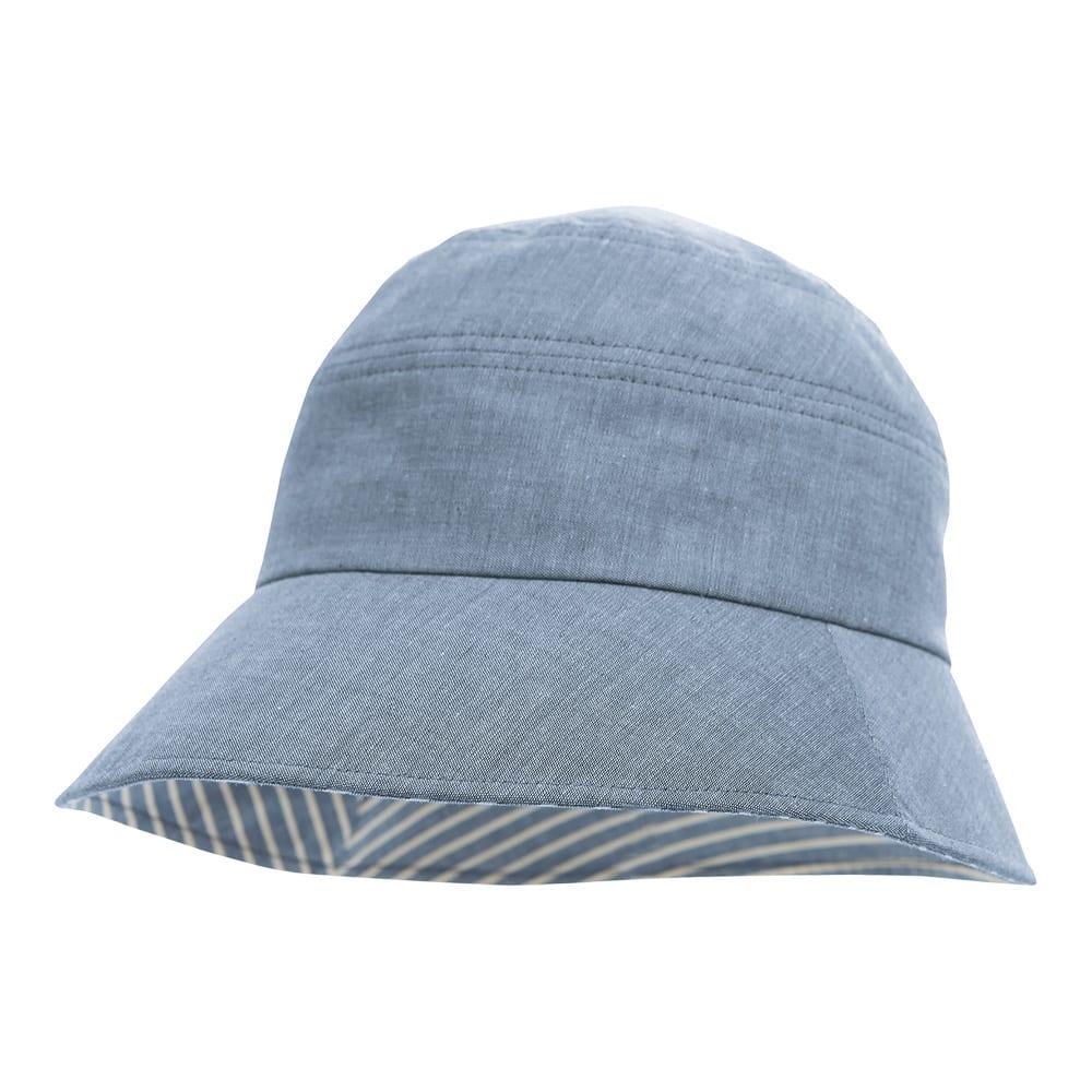 手しごと工房 ダンガリーUV帽子 (ア)ネイビー